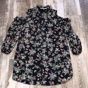 Cold Shoulder Floral Dress NWOT